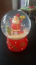 Snowman Glass christmas snowglobe. Beautiful
