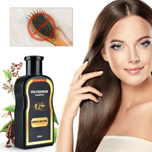 2x 200ml Reverse Grey Hair Darkening Shampoo Natural Polygonum Ginger Essence