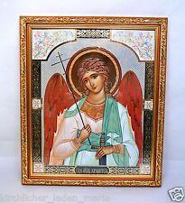 Ikone Schutzengel geweiht икона Ангел хранитель освящена в рамке 28x24x1,5 cm
