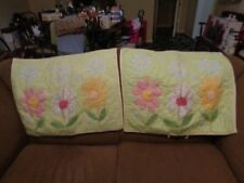 Pottery Barn Kids Floral Quilted Standard Pillow Sham Colorful Set Of 2