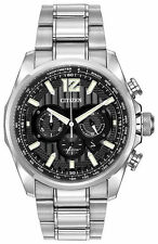 Citizen Men's Eco Drive Shadowhawk Stainless Steel Chronograph Watch CA4170-51E