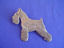 Schnauzer Standing Pewter pin #28B TERRIER Dog Jewelry by Cindy A. Conter
