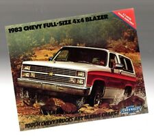 1983 Chevy Full Size BLAZER Truck Brochure / Catalog: 4x4, 4WD,