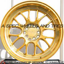 17X8.5 +35 GOLD F1R F21 5X100 Wheel Fits Corrado Cabriolet Scion Tc