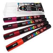 Uni POSCA - PC-3M Art Marker Paint Pens - 4 Pack Wallet - Red Tones