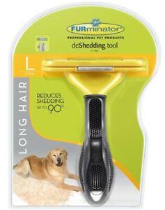 FURminator Undercoat Deshedding Tool for Dogs ( Large -Long Hair)