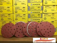150mm Sanding discs Sandpaper KLINGSPOR Hook & Loop , FESTOOL Rotex Hole Pattern