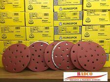 150mm Sanding discs Sandpaper KLINGSPOR Hook & Loop , FESTOOL Rotex Hole Pattern