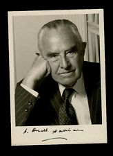 "Ambassador Averell Harriman 5x7"" AUTOGRAPHED Bern Schwartz Photo Black Finepoint"