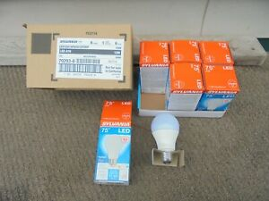 6 pack NEW Sylvania A19 Non-Dimmable  75w Led Light Bulb uses 12w 1100 Lumens