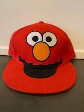 SESAME STREET ELMO MONSTER BASEBALL FITTED 7 3/8 HAT CAP RED TICKLE ME