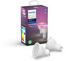 Philips Hue White and Color Ambiance GU10 LED Lampe Doppelpack 2x 5,7W Bluetooth