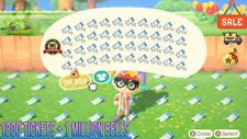 Nook Miles Tickets 1200 🎫 + 3 Millions Bells 🔔 Animal Crossing New Horizons 🏠