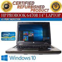 """HP ProBook 6470b 14"""" Intel i5 8 GB RAM 320 GB HDD Win 10 WiFi USB B Grade Laptop"""