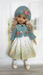 """Outfit for Doll Ruby Red 14.5"""" Fashion Friends, Knitted Clothes Dress Handmade"""