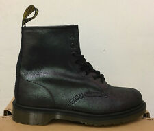 DR. MARTENS 1460  BLACK CRACKLE SUEDE   LEATHER  BOOTS SIZE UK 3