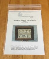 "Country & Colonial Stitches ""Harriot E Marvin Sampler"" Cross Stitch Pattern NIP"