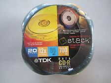 TDK 20-Pack of 80-Minute CD-R Discs (CDR80K20CO) w/ Stack Storage Trays