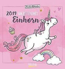 Einhorn   2019: Aufstellbarer Postkartenkalender. T... | Buch | Zustand sehr gut