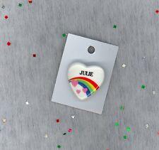 Rainbow & Hearts Fashion Pin Brooch Personalized JULIE - Stocking Stuffer