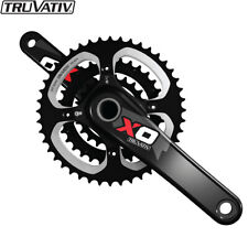 Truvativ X0 3x10spd 170mm MTB Crankset Carbon BB30 44-33-22T Black Red (No BB)