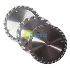 "3 x 205mm (8"") TCT Circular Saw Blades 30mm Bore 25 18 & 16 mm Reduction Rings"