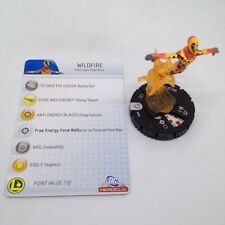 Heroclix Superman set Wildfire #039 Rare figure w/card!