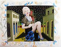 "MARIA MURGIA - "" Marilyn metafisica"" - Fotografia dipinta cm 72,5x93"