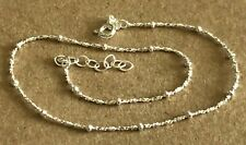 """(9""""+1""""=10"""" ) 17 Beads $8.49 Sterling Silver.925 Anklet~ Beaded Italian 10"""""""