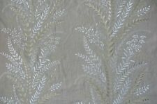 """SANDERSON CURTAIN FABRIC DESIGN """"Belsay"""" 2.9 METRES EMBROIDERED LINEN"""