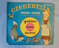 Cinderella Work Song Walt Disney Little Golden Record Yellow 45 RPM