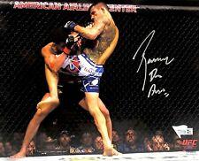 RAFAEL DOS ANJOS HAND SIGNED AUTOGRAPHED 8X10 UFC MMA PHOTO WITH FANATICS COA 1