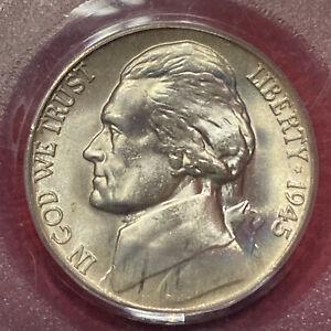 1945 P JEFFERSON NICKEL PCGS MS 66 35% Silver War Nickel Toner