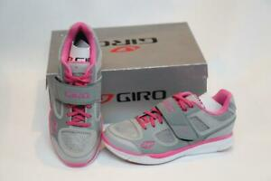 New Giro Whynd Women's Bike Shoes 36 5 Silver Pink 2-Bolt SPD Cycling MTB Spin