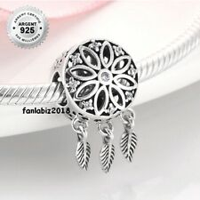 Fr Charm Argent s925 Dream Catcher Chasseur de rêves Zircons Blancs (1)