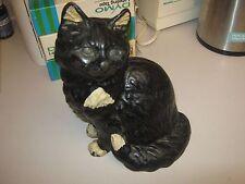 ANTIQUE ORIGINAL HUBLEY SITTING PERSIAN BLACK CAT CAST IRON ART STATUE DOORSTOP
