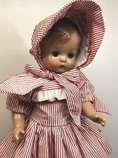 "16� Antique Effanbee Doll Co. ""Patsy Joan� Repro Vinyl Red & White Stripped #T"