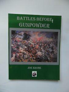 BATTLES BEFORE GUNPOWDER - (SOFTCOVER) MINIATURE WARGAME RULES - NEW