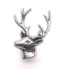 """Deer Head Left Facing Nickel Line 24 Decorative Snap Cap 1"""" 1265-26 Stecksstore"""