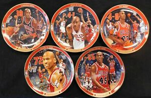 "Michael Jordan Lot Of 5 Upper Deck Limited Edition 8"" Return To Greatness Plates"