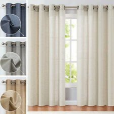 Windows Curtains Solid Drapes Treatment Set for Living Room Grommet Top 2 Panels