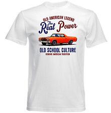 VINTAGE American Car Chevrolet El Camino-Nuovo T-shirt di cotone