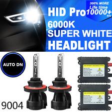 2x Conversion Kit Headlight HID Bi-Xenon Light Bulbs 9004 6000K For FORD DBK