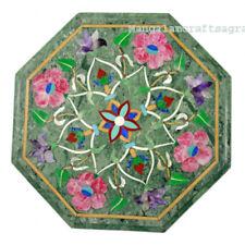 "18"" Marble Corner side Table Top Pietra dura Inlay Handmade Home Decor"