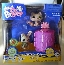LITTLEST PET SHOP RACOON & BUNNY PORTABLE PETS GIFT SET  #582/583 NEW