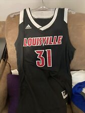 Adidas Louisville Cardinals Men's Red Poly Jersey Mens Sz L #31 Black Basketball