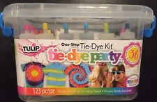 Tulip Tie Dye Kit, 123 Piece 14 Colors Party Tub Brand New Factory Sealed