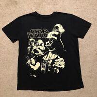 Star Wars T Shirt Black Size Large Yoda Luke Skywalker Darth Vader Han Solo