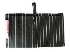 Purseket Mini Purse Organiser Insert, Gusseted Pockets, Drop In, Blk/Wht Stripe
