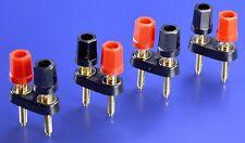 4 (Four) BENNIC Thermoplastic-Cap Dual Gold Plated Long Stud Binding Posts BP15G